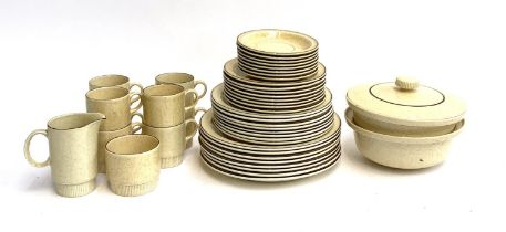 A quantity of Poole pottery dinnerware, 44 pieces