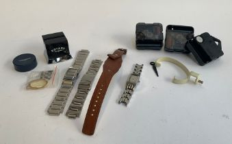A mixed lot of watch related items, Breil and Kenneth Cole bracelets; a Rotary commercial watch