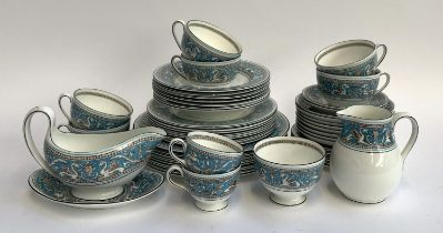 A Wedgwood Florentine part dinner service, comprising dinner plates (8), side plates (8), soup bowls