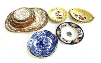 A quantity of ceramics to include Ridgways 'Simlay', pierced yellow floral dishes and baskets marked