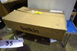 """A Belkin 18.5"""" rack mounted computer with LCD screen, model F1DC101Vea - New in box, box open."""