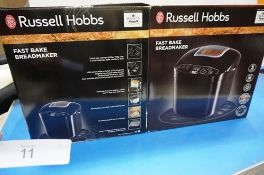 2 x Russell Hobbs Fast Bake bread makers, model 23620 - New in box (ES7)