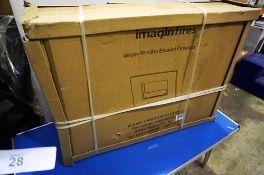 An Imagine Fires Arlington white bio ethanol fireplace, model LMBF35W - Sealed new in box (ES3)