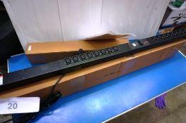 An APC rack mounted metered power distribution unit, model AP8858EU3, RRP £500.00 - New in box,