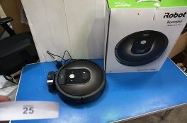 An iRobot Roomba 980 robotic vacuum cleaner, model R980040, Sealed new in box together with an