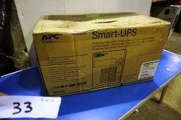 An APC smart uninterruptable power supply unit, SMT 1500, 1000 watts, model SMT1500IC - Sealed new