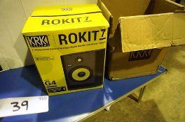 """A KRK Systems 7"""" Near Field studio speaker, model ROKIT7 RP7G4-UK, 135W - New in box (ES3)"""