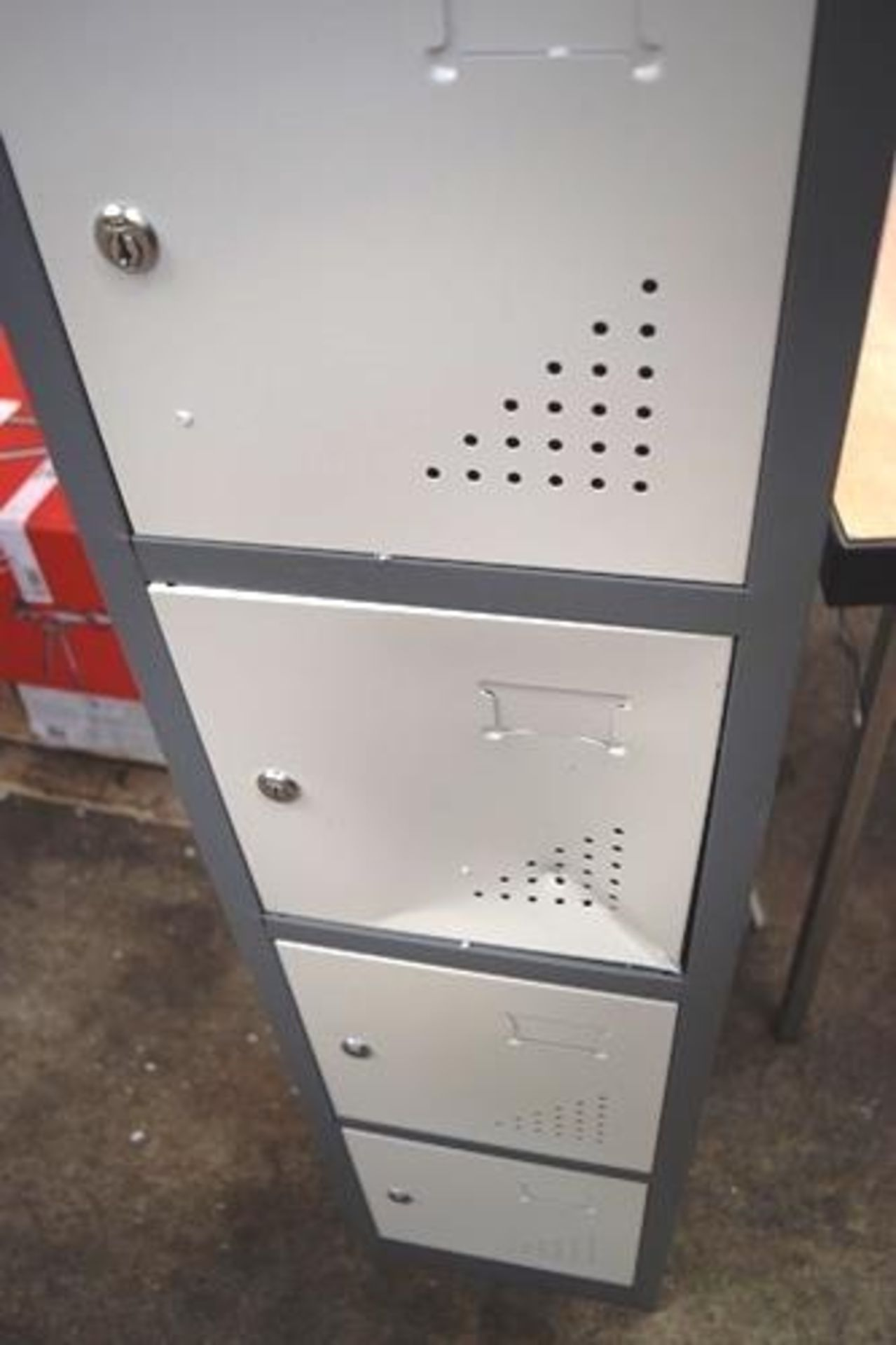 1 x The Workplace Depot Grey metal 6 locker unit, size 300 x 300 x 1800mm - New but with several - Image 2 of 3
