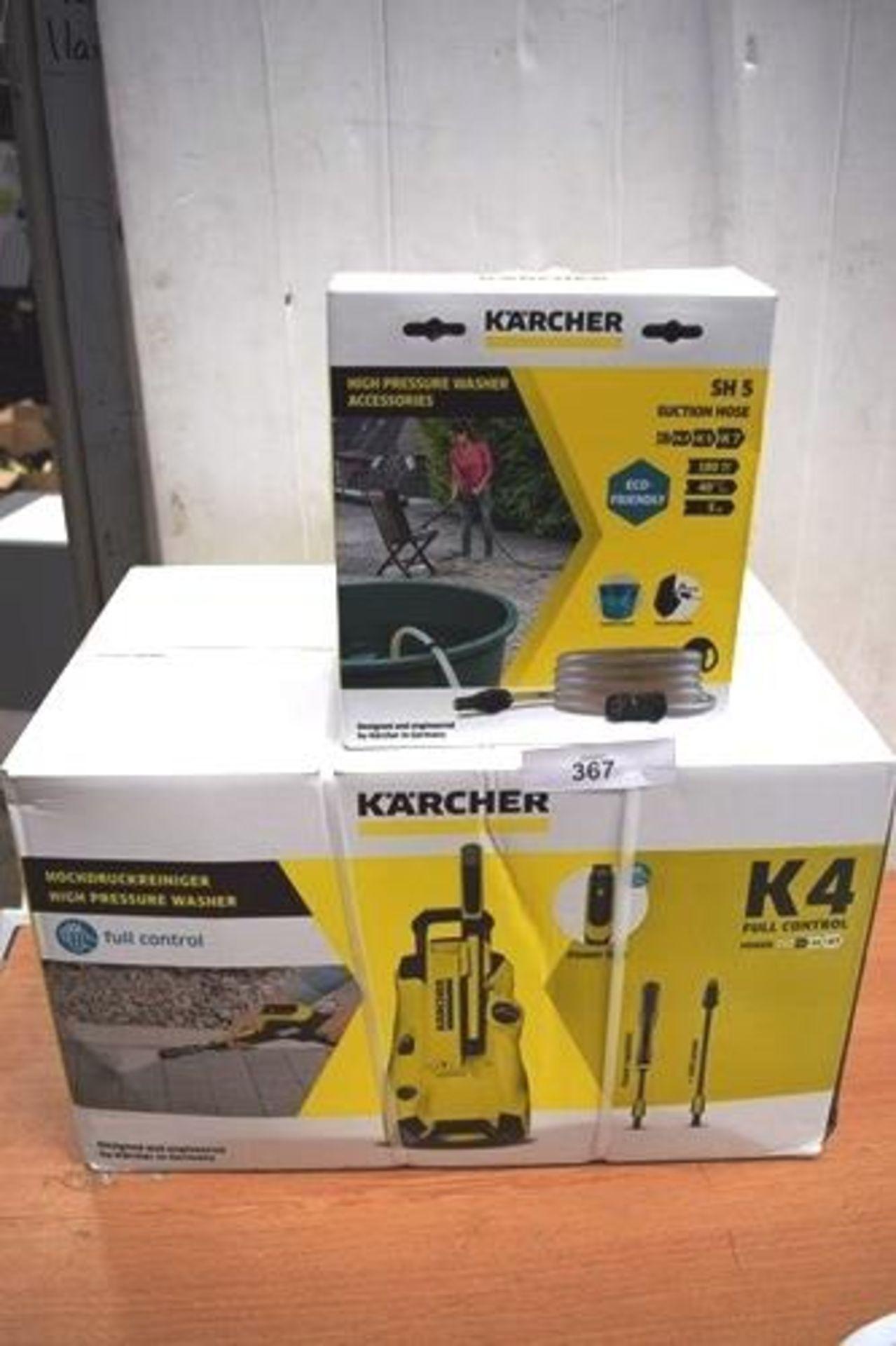 1 x K'Archer K4 full control high pressure washer, type 44FC, P.N. 1.324-002.0, 230 - 240V, together