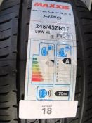 1 x Maxxis Premitra 5 HP5 tyre, size 245/45ZR17 99W XL - New with label (GS1)