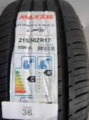 1 x Maxxis Premitra 5 HP5 tyre, size 215/50 ZR17 95W XL - New with label (GS2)