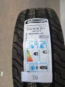 1 x Continental Contivan Contact TM100 BSW 8PR LRD tyre, size 215/70R15C - New with label (GS2)