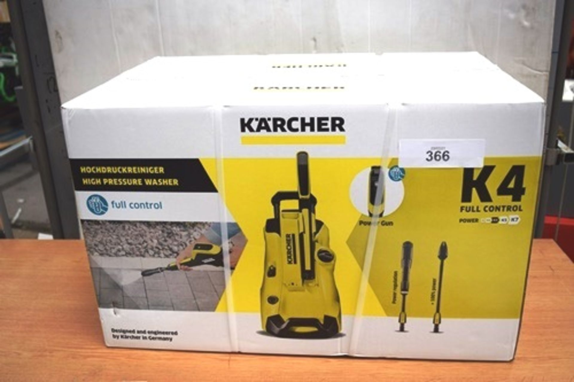 1 x K'Archer K4 full control high pressure washer, type 44FC, P.N. 1.324-002.0, 230 - 240V - New