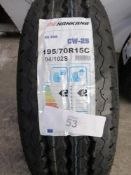 1 x Nankang 104/102S CW-25 NK van tyre, size 195/70R15C - New with label (GS3)