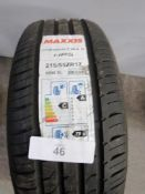 1 x Maxxis Premitra 5 HP5 tyre, size 215/55 ZR17 98W XL - New with label (GS2)