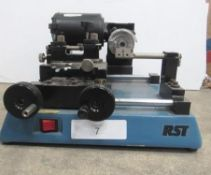 RST table top key cutting machine, motor and guard damaged, model RST TM1011, 230V 50hz, 1/5HP,