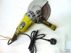 A Ryobi 230mm, 2000W angle grinder - Second-hand, powers on (TC3)
