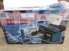 A Clarke woodworker belt and disc sander, model CS4-6E - New in box, box open (TC3)