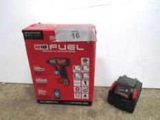 A Milwaukee M18 fuel impact drill, together with 5 Amp H M18 battery, no charger - New (TC3)