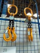 2 x S & T double-legged 4.25T brother hoists - New (TC3)