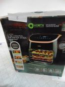 1 x Tower 11ltr 5-in-1 digital air fryer oven, model T14039RGB together with 1 x Tower 4 slice