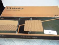 "1 x HP 22"" monitor, model P224, together with 1 x LG24"" monitor, model 24MK400H - New (ES3)"