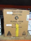 1 x Russell Hobbs black glass door wine cooler, model RHGW-C1B-C - New (ES1)