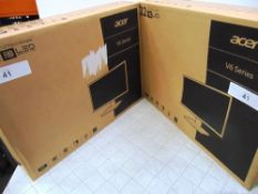 "2 x Acer 22"" monitors, model V226HQL, together with 1 x iiyama Prolite 24"" monitor, model X2474HS-B2"