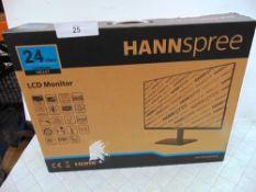 "Hannspree 24"" monitor, model HE247HPB - New (ES2)"