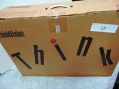 """1 x Lenovo ThinkVision T23i-10 23"""" monitor, model 61ABMAT1UK - New (ES3)"""