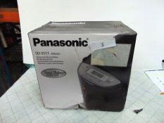 1 x Panasonic black automatic bread maker, model SD-2511 - New in box, box tatty (ES1)