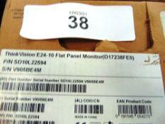 Lenovo ThinkVision E24-10 monitor, model 61B7JAT6UK - New (ES3)