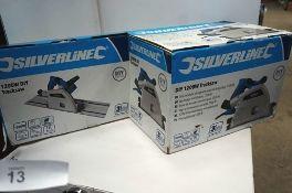 1 x Silverline 1200W track saw, model 624327 - New in tatty box, untested (TC3)