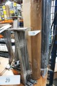 A selection of engineering materials including Mitsubishi plastic rods, 1m x various diameter from