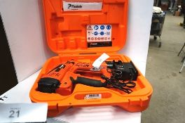 1 x Paslode IM50 F18 nail gun with battery and charger, snapped firing pin, untested - Spares and