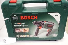 1 x Bosch Universal Impact 800 230V drill, model 0603131170 - Sealed new in box (TC3)