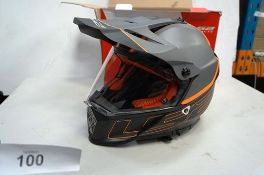 1 x orange/grey/black LS2 Pioneer motorcycle helmet, size XL, 61 - 62cm, Ref: ECER22-05, rating
