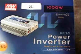 1 x Mean Well 1000W DC/AC power inverter, model 10R-0513728, 230VAC - New in box (ES5end)