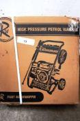 1 x RW high pressure petrol washer, model RWHPPW - Sealed new in box (ES5end)