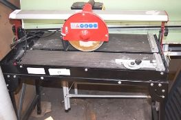 1 x Dirty Pro Tools 200mm 800W tile cutting table, model TS2003 - Second-hand, no power to motor,