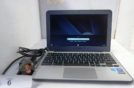 1 x Asus C202S Chrome Notebook PC with power cable, powers on, factory reset. This item has not been
