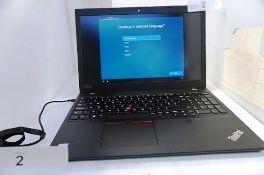 1 x Lenovo ThinkPad L590 laptop, Core i5 1.60ghz 8th Gen processor, 256gb hard drive, 8gb Ram,