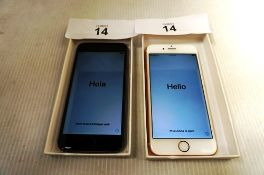 2 x iPhones, model 6 and 6S A1586 and A1688, IMEI: 356144092353909 and IMEI 355399085255922 -