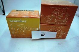 3 x Heatmiser Neo Series V2 wireless thermostat, model HC20090001 - Sealed new in box (C1)