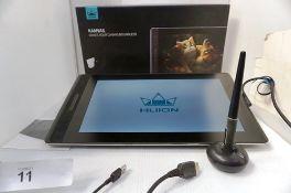 1 x Kamvas Pro 13 pen display, model GT-133 in original box with pen, RRP £250.00 - Second-hand.