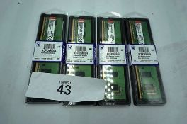 4 x Kingston 4gb memory modules, model KCP426NS6/4 - Sealed new in pack (C1)