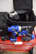 3 x Kobe 18V combi drill impact driver drills each with 4 x 18V batteries, 2 x chargers and 2 x