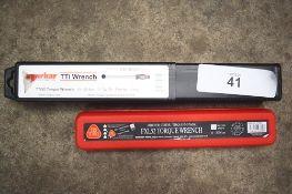 "1 x Norbar TTI torque wrench, model TTI50, 10-50 N.M 1/2"" sq drive, P.N. 13844, together with 1 x"