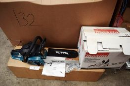 1 x Makita petrol chain saw, model EA3201S, Y.O.M. 2018, with guide, chain, manual and box -