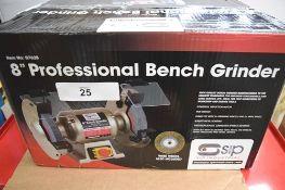 "1 x SIP 8"" professional bench grinder, model 07628, 230V, in original box - Grade B (ES10)"